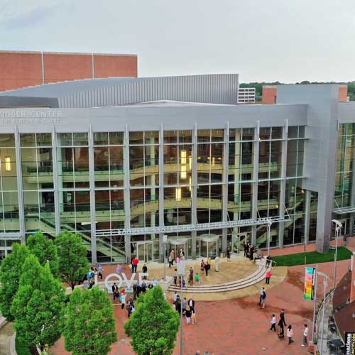 Plaza View of Sandler Center from Sky